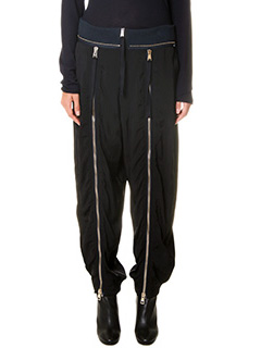 Chlo�-Pantaloni in twill nero blue