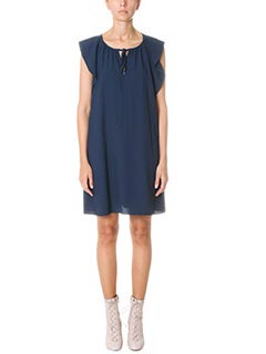 Chlo�-Vestito in cr�pe blue