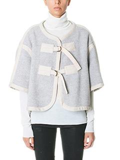 Chlo�-Giacca mantella in misto lana grigia
