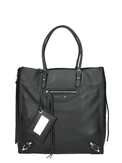 Balenciaga-paper za black leather bag