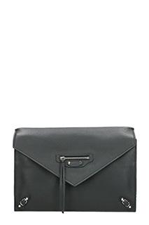 Balenciaga-Pochette Papier in pelle nera