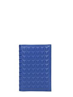 Balenciaga-Portafoglio in pelle blue