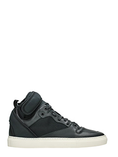 Balenciaga-Sneakers High in pelle e camoscio nero
