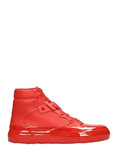 Balenciaga-Sneakers Classic in pelle e vernice rossa