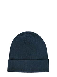 Balenciaga-Cappello in lana a coste  blue