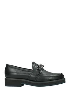 Jil Sander Navy-Pescosa black leather loafers