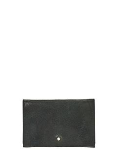 Rick Owens-Portafogli Flat Wallet in pelle dark dust