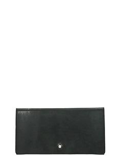 Rick Owens-Portafogli Flat Wallet in pelle nera