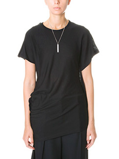 Maison Margiela-T-Shirt in jersey nero