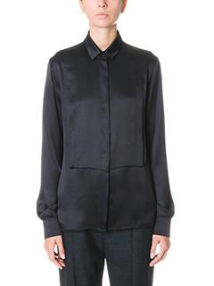 Maison Margiela-black silk shirt
