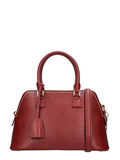 Maison Margiela-Borsa in pelle bordeaux