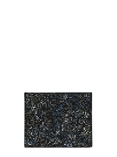 Maison Margiela-Portacarte in pelle glitter multicolor