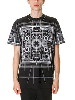 Givenchy-T-Shirt Army in cotone nero