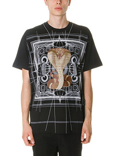 Givenchy-T-Shirt Cobra in cotone nero