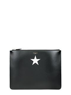 Givenchy-Pochette Classic Pouch Large in pelle nera