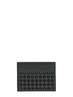 Christian Louboutin-Portacarte Kios Simple Card Holder in pelle nera