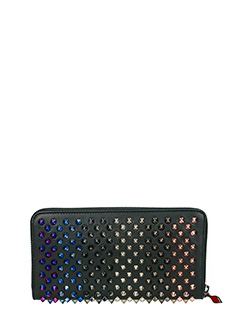 Christian Louboutin-Panettone walle black leather wallet