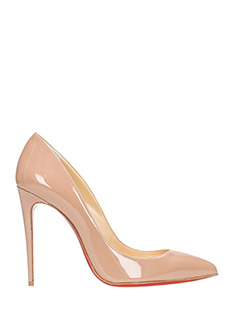 Christian Louboutin-Pigalle follies beige leather pumps