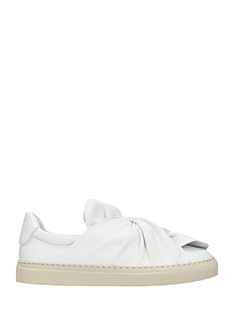 PORTS 1961-Sneakers Bow in pelle bianca