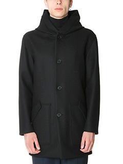 Jil Sander-Cappotto corto in lana nera