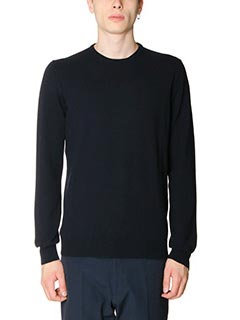 Jil Sander-Maglia Sweater Knitted in lana blue
