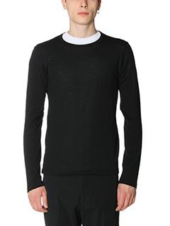 Jil Sander-Maglia Sweater Knitted in lana nera