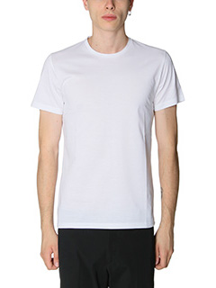 Jil Sander-T-Shirt Double in jersey bianco