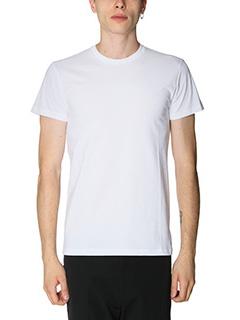 Jil Sander-T-Shirt in jersey bianco