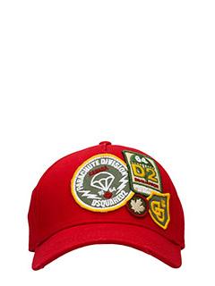 Dsquared 2-Cappello Parachute  in cotone rosso