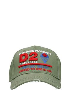 Dsquared 2-Cappello Limited  in cotone verde