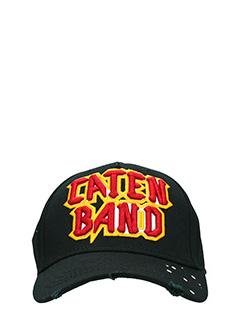 Dsquared 2-Cappello Caten Band  in cotone nero