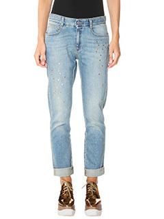 Stella McCartney-Jeans Boyfriend in denim azzurro