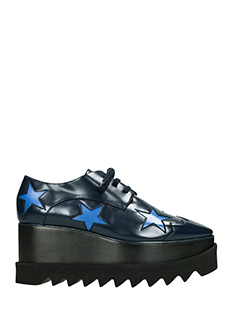 Stella McCartney-Stringate Elyse in eco pelle nera blue