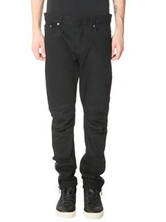 Balenciaga-Jeans Biker in cotone nero