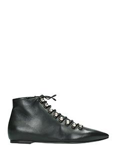 Balenciaga-black leather ankle boots