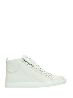 Balenciaga-Sneakers Arena High in pelle bianca