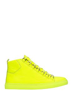 Balenciaga-Sneakers Arena High in pelle gialla