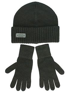 Dsquared 2-Set Knit Accessories  in lana nera