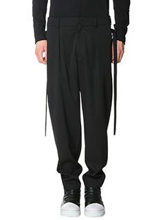 Damir Doma-Pantaloni Picasso in lana nera