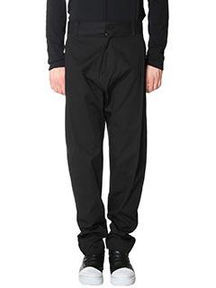 Damir Doma-Pantaloni Parker in cotone nero