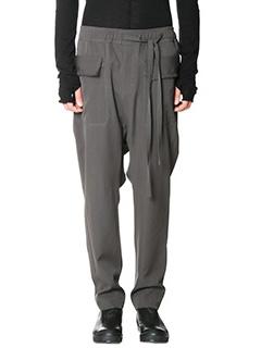 Damir Doma-Pantaloni Polate  in lana grigia