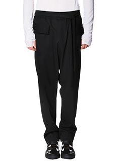Damir Doma-Pantaloni Polate  in lana nera
