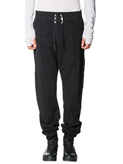 Damir Doma-Pantaloni Pascal in cotone nero