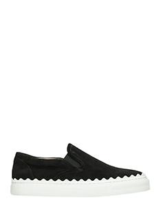 Chlo�-Sneakers July in pelle nera