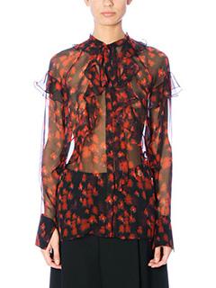 Givenchy-red silk shirt