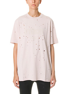 Givenchy-T-Shirt Logo in cotone rosa