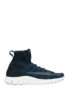 Nike-Sneakers Free Flyknit in nylon blue