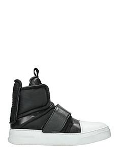 Bruno Bordese-Sneakers Hight Stretch in pelle nera