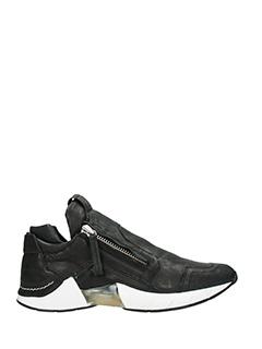 Cinzia Araia-Sneakers Asap Ring in pelle nera