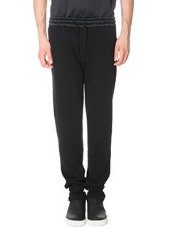 Kenzo-Pantaloni in cotone e nylon nero